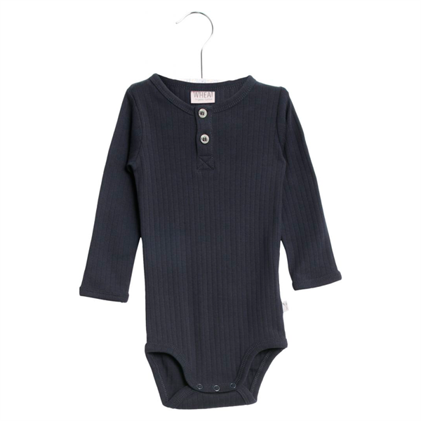 Bilde av Wheat - Body Placket LS Edgeband navy