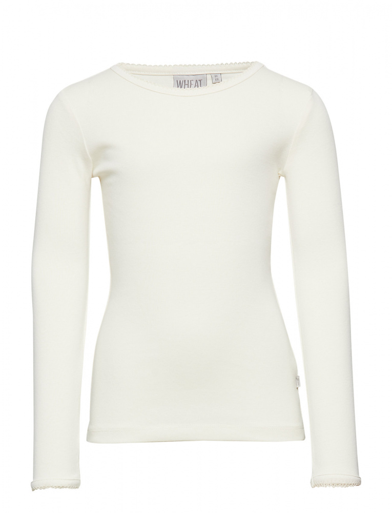 Bilde av Wheat - Basic t-shirt LS Ivory